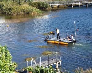 Grasschneideboot